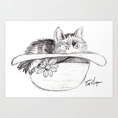 Kitty! Art Print