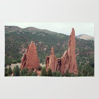 spires Area & Throw Rugs featuring Spires - Garden of the Gods by Katie Kirkland Photography