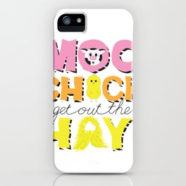 Moo Chick iPhone Case