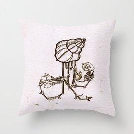 SHELL MONOPRINT Throw Pillow