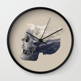 Mountain Skull Face Wall Clock