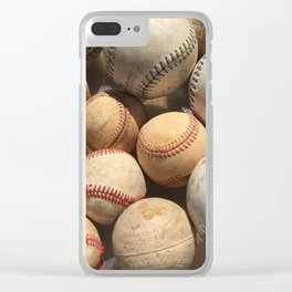 Baseball Obsession Clear iPhone Case