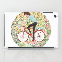 cycling iPad Cases featuring Summer Cycling by foxflowers