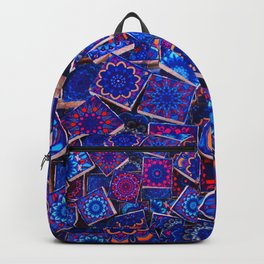 V9 Traditional Special Moroccan Colored Blue Stones - A2 Backpack