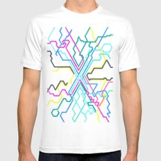 Completely Illogical Subways White MEDIUM Mens Fitted Tee