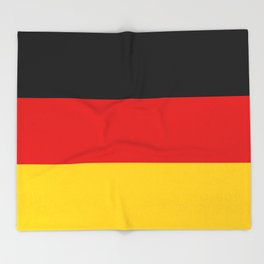 German flag - High Quality version both in scale and color Throw Blanket