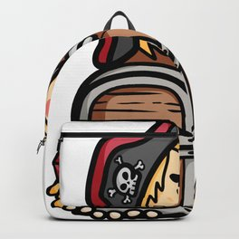 Pirate skull treasure children comic gift Backpack