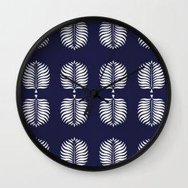 TROPICAL PALMS . BLUE Wall Clock