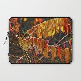 Fall Sumac Leaves during a Michigan Autumn Laptop Sleeve