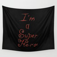 super hero Wall Tapestries featuring I'm a Super Hero. by Mikhail Zhirnov