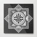 Sri Yantra Black & White Sacred Geometry Mandala by inspiredimages