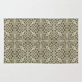 Silver Intricate Arabesque Pattern Rug