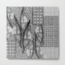 Palm Flower Words Metal Print