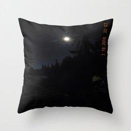 darkness, nature, landscape, moon light, night shot, no flash Throw Pillow