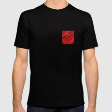 Plaid Pocket - Red MEDIUM Mens Fitted Tee Black