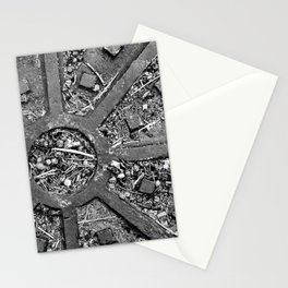 High Contrast Manhole Cover Stationery Cards