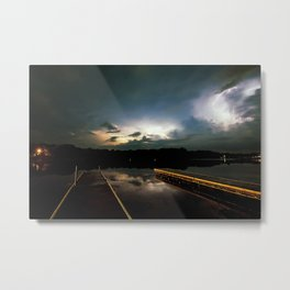 Lightning Bay Metal Print
