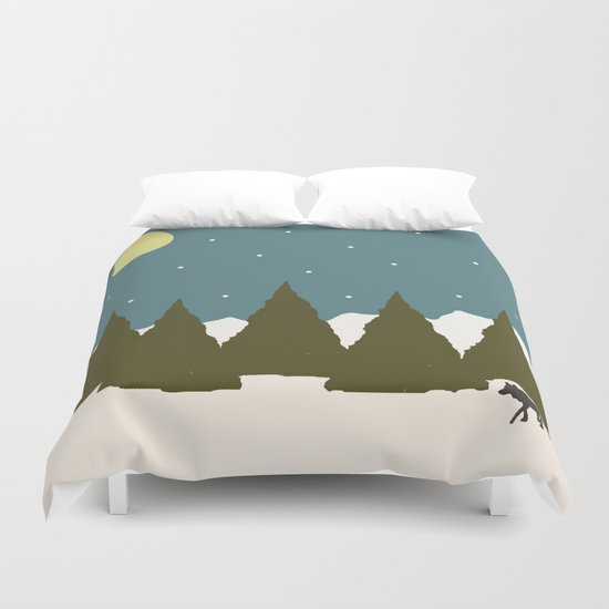 First Snowfall Duvet Cover