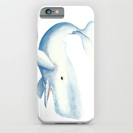 Nautical Whale Watercolor iPhone Case