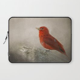 Song of the Summer Tanager 1 - Birds Laptop Sleeve