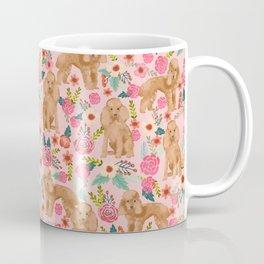 Poodle apricot coat floral florals dog breed pet portraits pet friendly dog breeds Coffee Mug