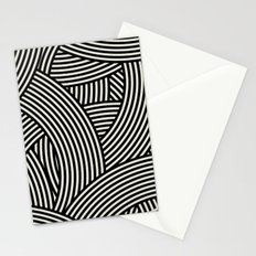 New Weave in Black Stationery Cards