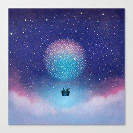 Stars Balloon Canvas Print