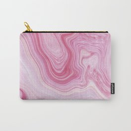 Blush Pink Marble Carry-All Pouch