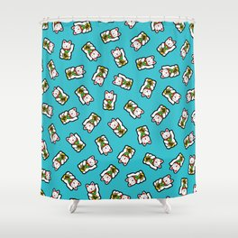 Lucky Cat Pattern Shower Curtain