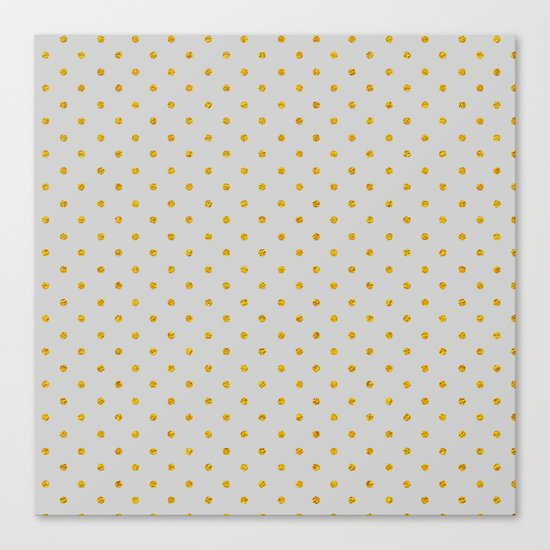 Polka dot dance on grey Canvas Print