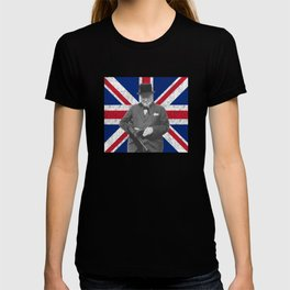 Winston Churchill Posing With A Tommy Gun T-shirt