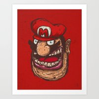mario Art Prints featuring Mario by Lime