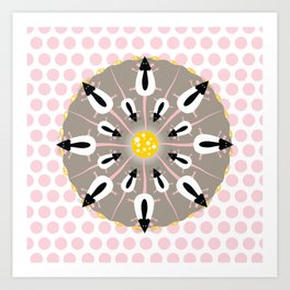 Ratty Mandala Art Print