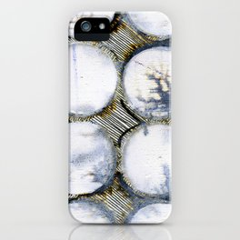 WATERCOLOUR DISCS: White Howlite (detail ) iPhone Case