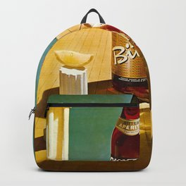 Vintage Bitter Cinzano Advertisement Poster Backpack