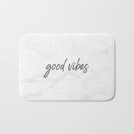 Good Vibes Marble Bath Mat