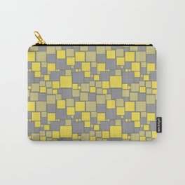 Yellow Grey Green Mosaic Pattern Pantone 2021 Color of the Years and Accent Shades Carry-All Pouch
