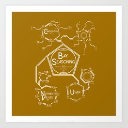 Bay Seasoning Molecular Diagram Art Print