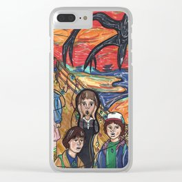 Stranger Thing x Munch Clear iPhone Case