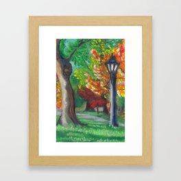 Queen's Park Lamp Post Framed Art Print