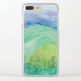 Violets in the Summertime Clear iPhone Case