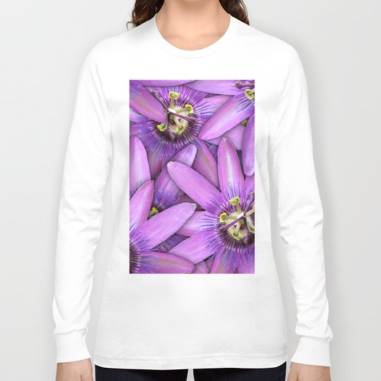 Passion Fruit Blossoms Long Sleeve T-shirt