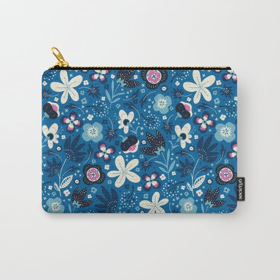 Blue Meadow Carry-All Pouch