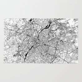 Brussels White Map Rug