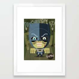 west kapow Framed Art Print