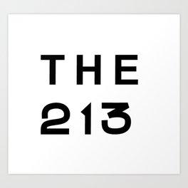 213 California Area Code Typography Art Print