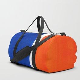 Colorful Bright Minimalist Rothko Orange And Blue Midcentury Modern Art Vintage Pop Art Duffle Bag