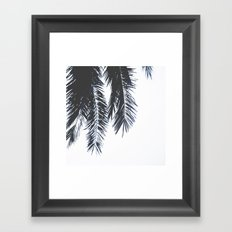 Palm Tree leaves abstract Framed Art Print