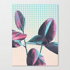 Polka Dots on Greenery Canvas Print