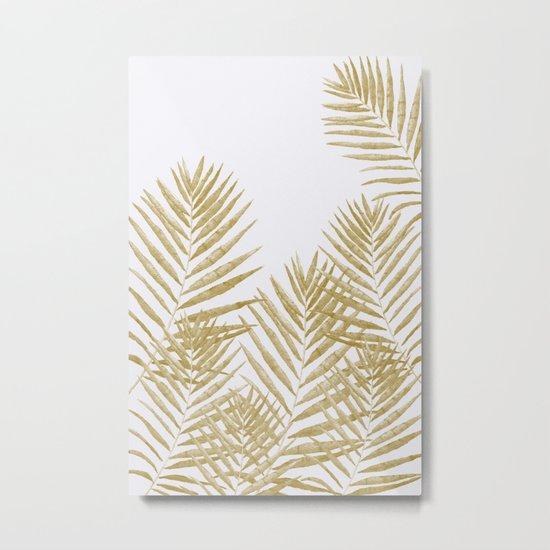 Fern Golden Metal Print